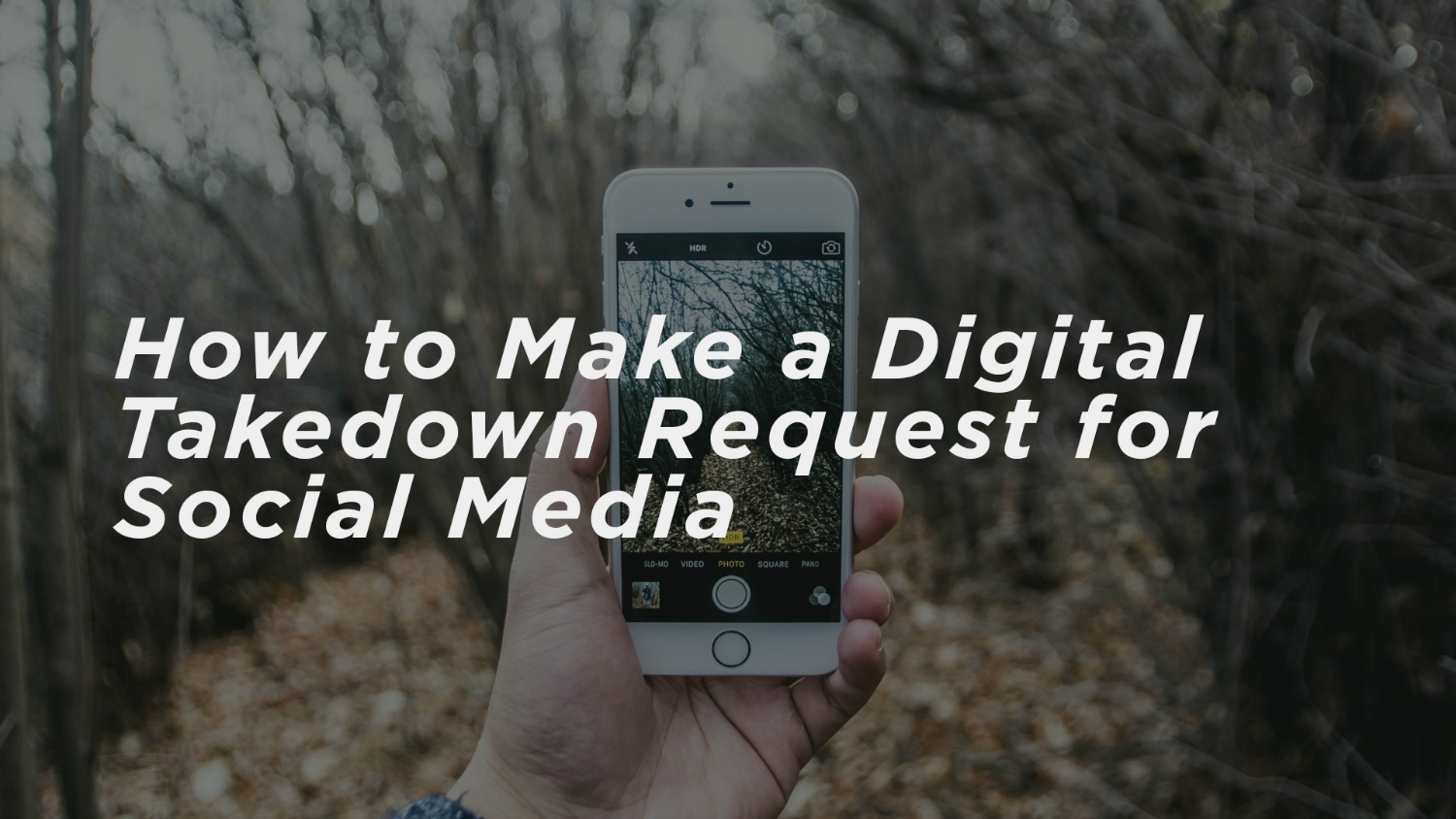 How to Make a Digital Takedown Request for Social Media